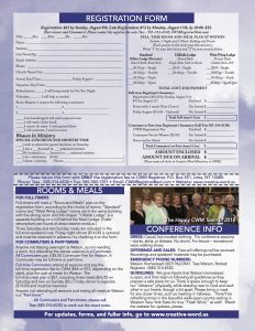 Registration form for 2020 Women's Retreat